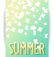 Hello summer abstract poster vector image vector image