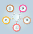 infographic template of circle connection for use vector image