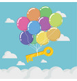 key to success is floating in sky vector image