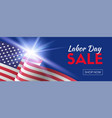 labor day sale long banner for social media vector image