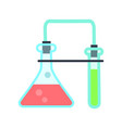 laboratory glassware in flat style vector image