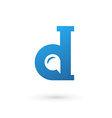 Letter D speech bubble logo icon design template