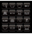 line hi-tech equipment icons vector image vector image
