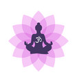 lotus yoga logo template vector image