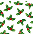 merry christmas holly vector image vector image