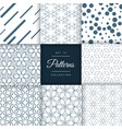 modern abstract pattern design collection vector image vector image