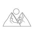 mountains landscape scene icon vector image