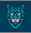 myth cat head fur vector image