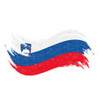 national flag of slovenia designed using brush vector image
