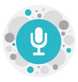 of audio symbol on microphone vector image vector image