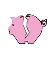 Piggy monet savings vector image vector image