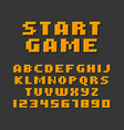 pixel retro style video game font vector image vector image