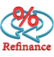 Refinance home mortgage loan vector image