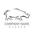 rhino logotype vector image