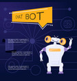 robot virtual assistance element of website vector image vector image