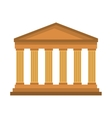 roman construction classic isolated icon vector image vector image