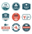Seafood label set vector image vector image