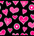 seamless hearts pattern-01 vector image vector image