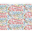 seamless pattern with lettering festa junina hand vector image vector image