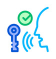security system voice control icon vector image