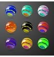 set color spiral ball shapes vector image