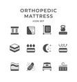 set icons of orthopedic mattress vector image