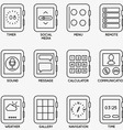 Set of kits of mobile watch - part 1 vector image vector image