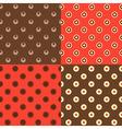 set of polka dot patterns vector image vector image