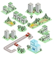Set of the Isometric City vector image vector image