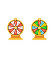 set wheels fortune lottery luck vector image