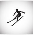skier on white background vector image