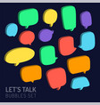 speech bubble 3d talk traditional doodle icons vector image