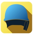 Sport icon with baseball helmet in flat style vector image vector image