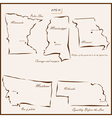 states of America vector image vector image