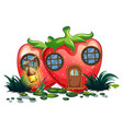 strawberry house with lantern in garden vector image vector image