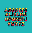 super hero alphabet font design vector image vector image