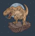 t-rex wild vector image vector image