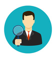 Tax inspector icon flat style vector image vector image
