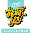 thank you followers banner editable vector image vector image