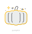 Thin line icons Pumpkin vector image