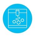 Tree D printing line icon vector image