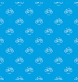 vintage bicycle pattern seamless blue vector image vector image