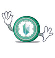 Waving kyber network character cartoon vector image