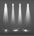 white beam lights spotlights glowing light vector image