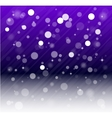 Whte snow bokeh blue background vector image vector image