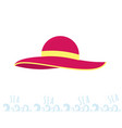 women beach pink hat summer time rest on the sea vector image vector image