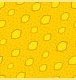 yellow lemon seamless background vector image vector image