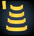 yellow web ribbon banners set vector image vector image