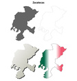Zacatecas blank outline map set vector image vector image
