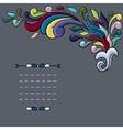 Funky design with bright cartoon swirls vector image